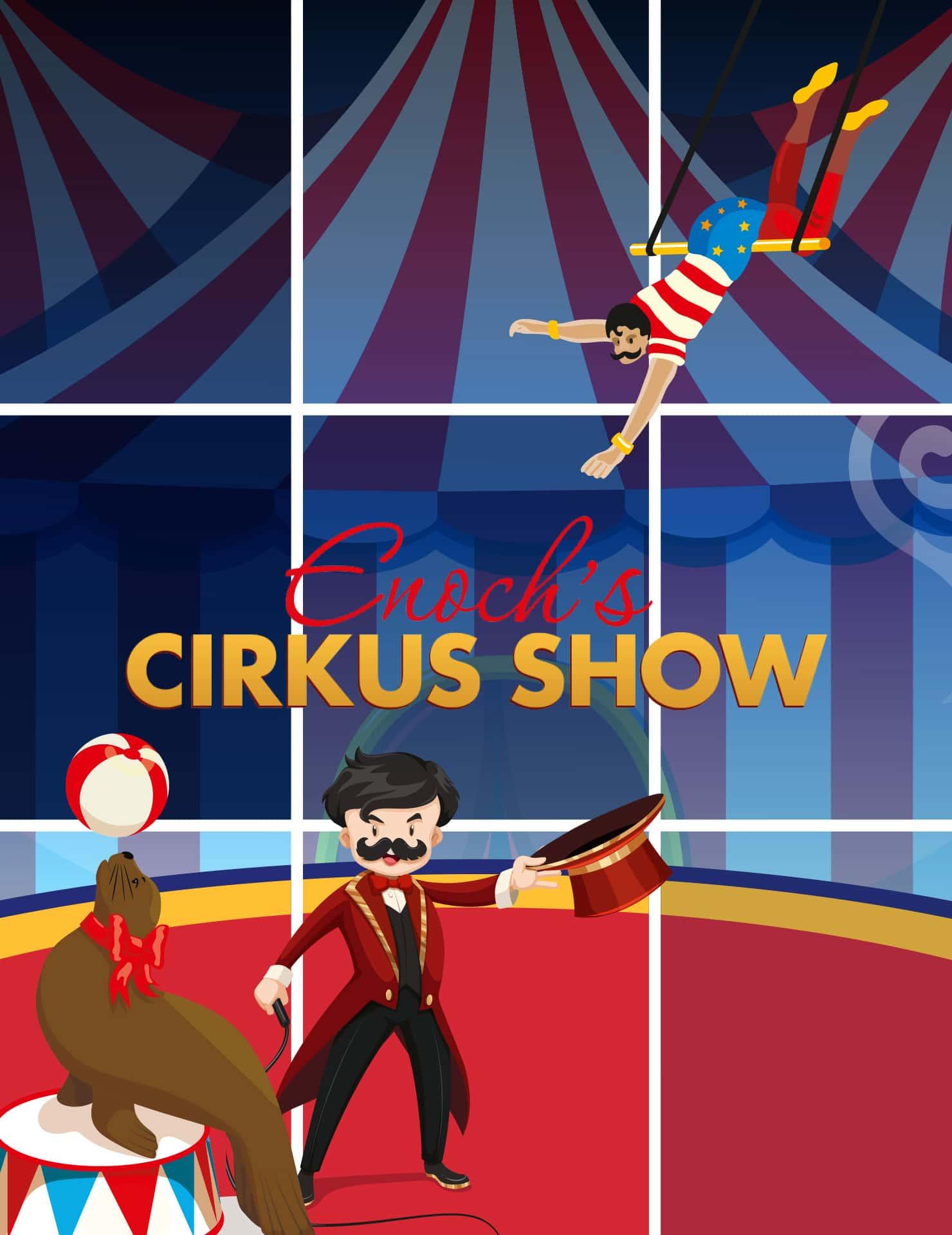 Enoch's Cirkus show I vinterferien i Rosengårdcentret
